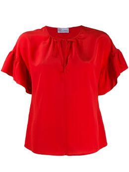 Red Valentino блузка с оборками на рукавах TR0AAB5023H