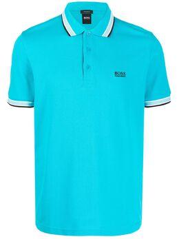 Boss by Hugo Boss рубашка-поло с отделкой в полоску 50398302