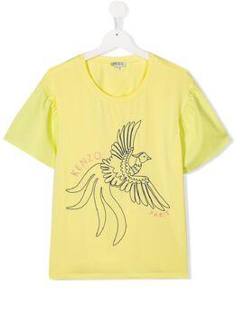 Kenzo Kids футболка Johanna с вышивкой KQ10078T