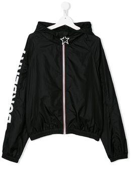Burberry Kids куртка на молнии с капюшоном 8026330