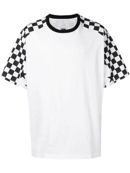 Facetasm футболка в стиле оверсайз с принтом в клетку MRCM19