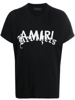 Amiri футболка с логотипом Y0M03346CJ