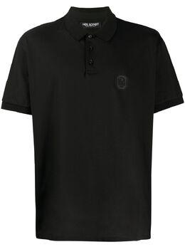 Neil Barrett рубашка-поло с нашивкой-логотипом и короткими рукавами PBJT691BN521C
