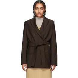 Acne Studios Brown Wool Mohair Belted Blazer AH0078