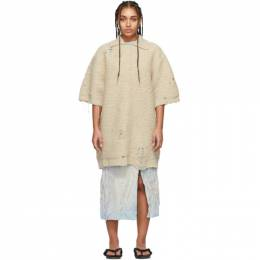 Acne Studios Beige Oversized Polo Dress A60170
