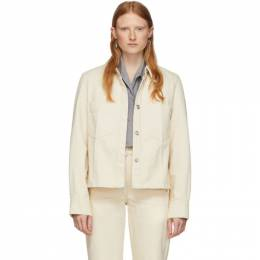 Lemaire Off-White Denim Boxy Jacket W 201 SH257 LD034