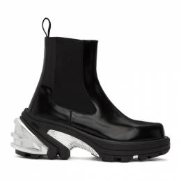 1017 Alyx 9Sm Black and Silver Removable Sole Chelsea Boots AAUBO0029LE06BLK0001