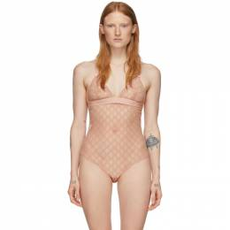 Gucci Pink Lace Bodysuit 599604 XUAAW