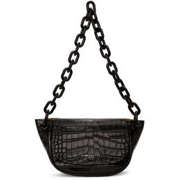 Simon Miller Black Croc Bend Bag S821-9026
