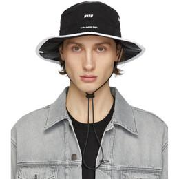 MSGM Black Logo Strap Bucket Hat 2840ML03 207002