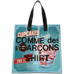 Comme Des Garcons Shirt Multicolor Cupcakes Shopping Tote S28610