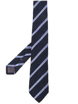 Canali полосатый галстук HX02717