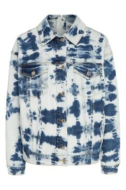 Джинсовая куртка расцветки тай-дай MSGM 296186434
