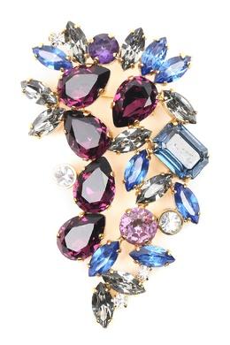 Брошь из разноцветных кристаллов Marina Rinaldi 1511186438