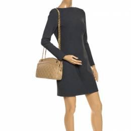 Chanel Vintage Beige Lambskin Quilted Shoulder Bag 36141