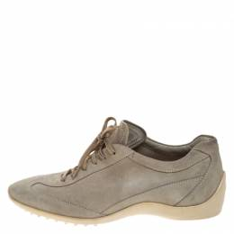 Tod's Pale Green Suede Lace Up Sneakers Size 42 266900