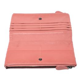 Bottega Veneta Salmon Pink Intrecciato Leather Double Zip Wallet