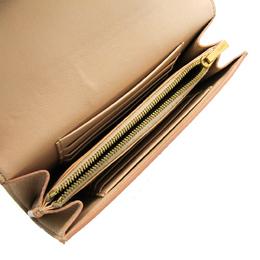 Celine Beige Leather Trotter Medium Bifold Wallet 266735