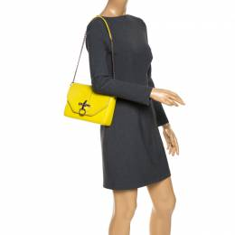 Givenchy Yellow Leather Obsedia Shoulder Bag