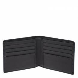 Bottega Veneta Dark Brown Leather and Alligator Bifold Wallet 266794