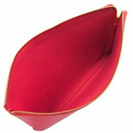 Celine Rose Pink/Bordeaux Leather Clutch Bag