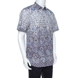 Louis Vuitton Multicolor Printed Cotton Short Sleeve Shirt XL 268131