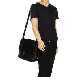 Montblanc Black Leather Meisterstuck Large Messenger Bag 268345