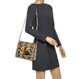 Tom Ford Beige/Black Python Medium Natalia Shoulder Bag