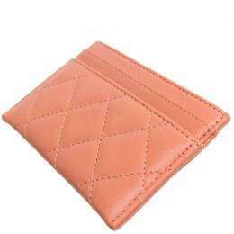 Chanel Pink Matelasse Leather Card Case Celine 266989