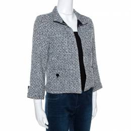 Chanel Bicolor Lurex Tweed Open Front Jacket S 266535