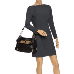 Anya Hindmarch Dark Brown Python Leather Shoulder Bag 268219