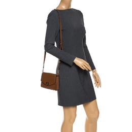 Michael Kors Brown Leather XS Cassie Crossbody Bag 268741