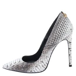 Loriblu Grey/White Python Pointed Toe Pumps Size 38.5 268485