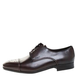 Salvatore Ferragamo Brown Brogue Leather Cairo Derby Size 44 269399
