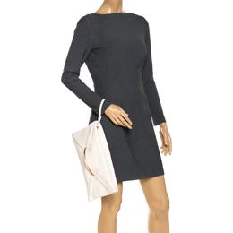 Nina Ricci Cream Leather Folded Case Clutch 268150