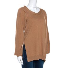 Stella McCartney Brown Wool Side Slit Detail Jumper M 268849