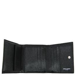 Saint Laurent Black Embossed Leather Studded Wallet Yves Saint Laurent 266292