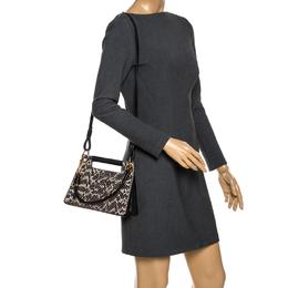 Givenchy Black Leather and Python Effect Whip Shoulder Bag