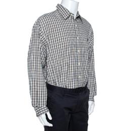 Ralph Lauren White Checked Cotton Button Down Blake Shirt XL 264767