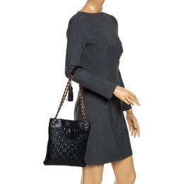 Tory Burch Black Leather Shoulder Bag 265971