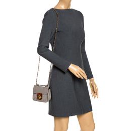 Chloe Grey Leather Mini Elsie Crossbody Bag