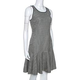 Ralph Lauren Monochrome Houndstooth Merino Wool Lexi Dress M 266484