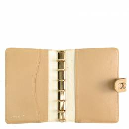 Chanel Biege Leather Planner Cover