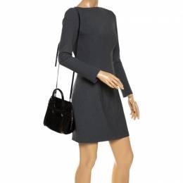 Alexander McQueen Black Patent Leather Mini Heroine Bag 265432