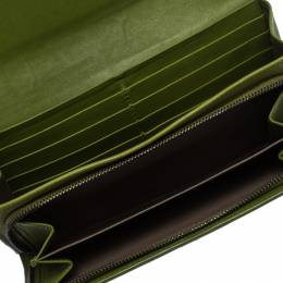 Bottega Veneta Green Intrecciato Nappa Leather Continental Wallet