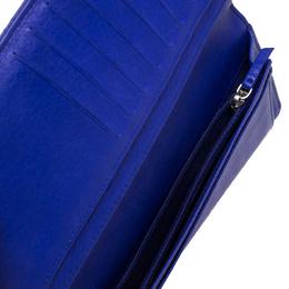 Chanel Purple Wild Stitch Quilted Leather Yen Bifold Wallet 264585