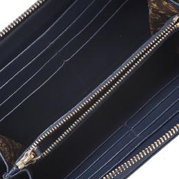 Versace Navy Blue Leather Vanitas Zip Around Wallet 266192