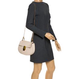 Chloe Nude Leather Medium Drew Shoulder Bag