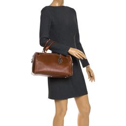 Cartier Brown Leather Marcello de Cartier Bowler Bag 265614