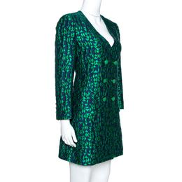 Emporio Armani Bicolor Jacquard Long Sleeve Shift Dress M